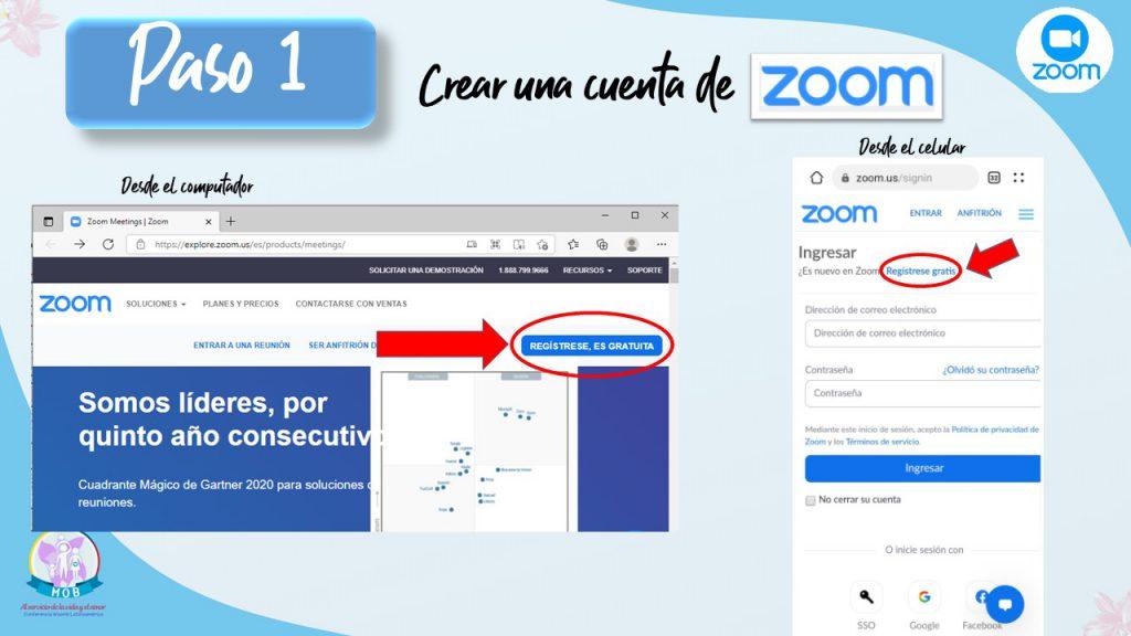 Abrir cuenta zoom